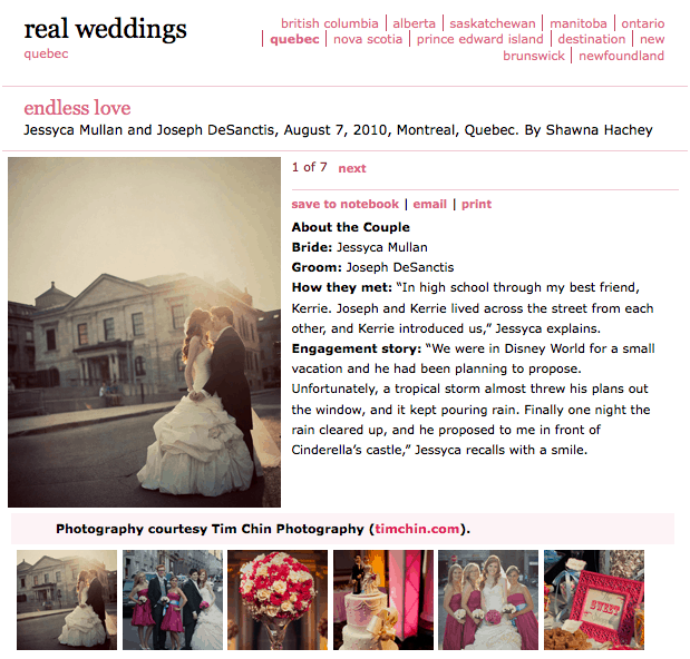 WeddingBells Online Feature